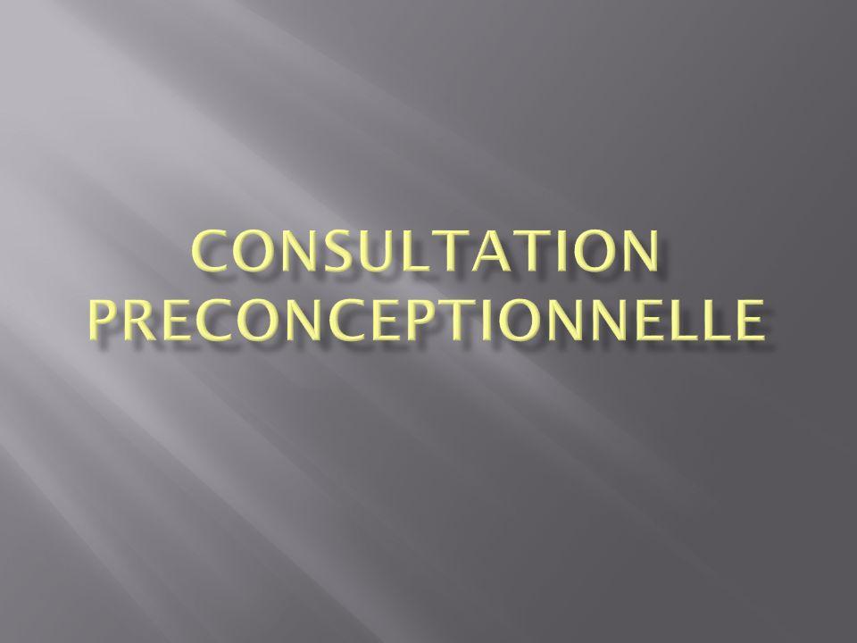 CONSULTATION PRECONCEPTIONNELLE