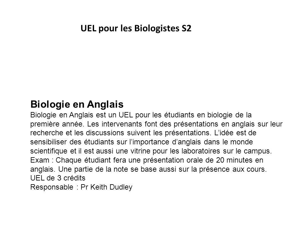 UEL pour les Biologistes S2