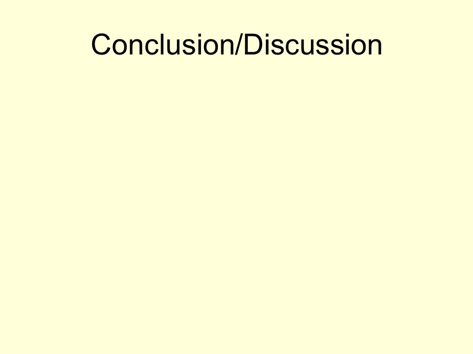 Conclusion/Discussion