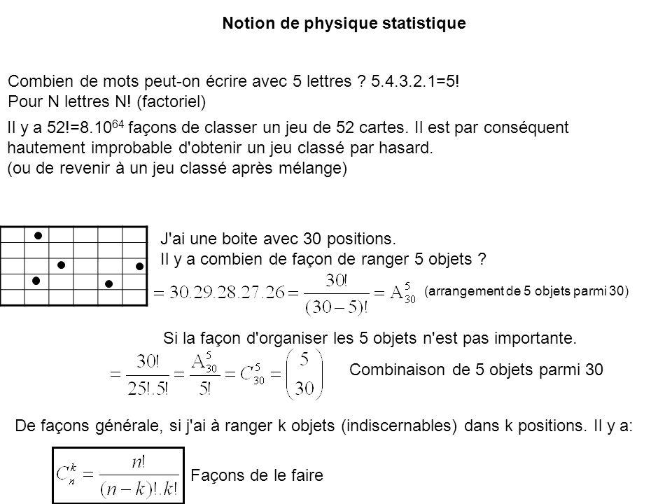 Notion de physique statistique