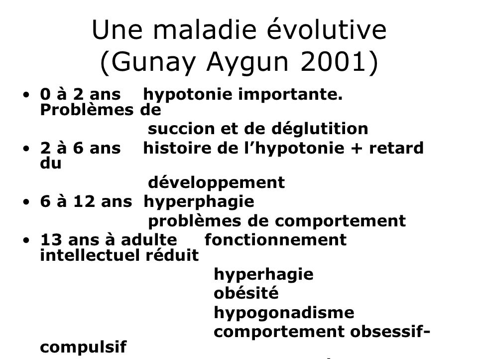 Une maladie évolutive (Gunay Aygun 2001)