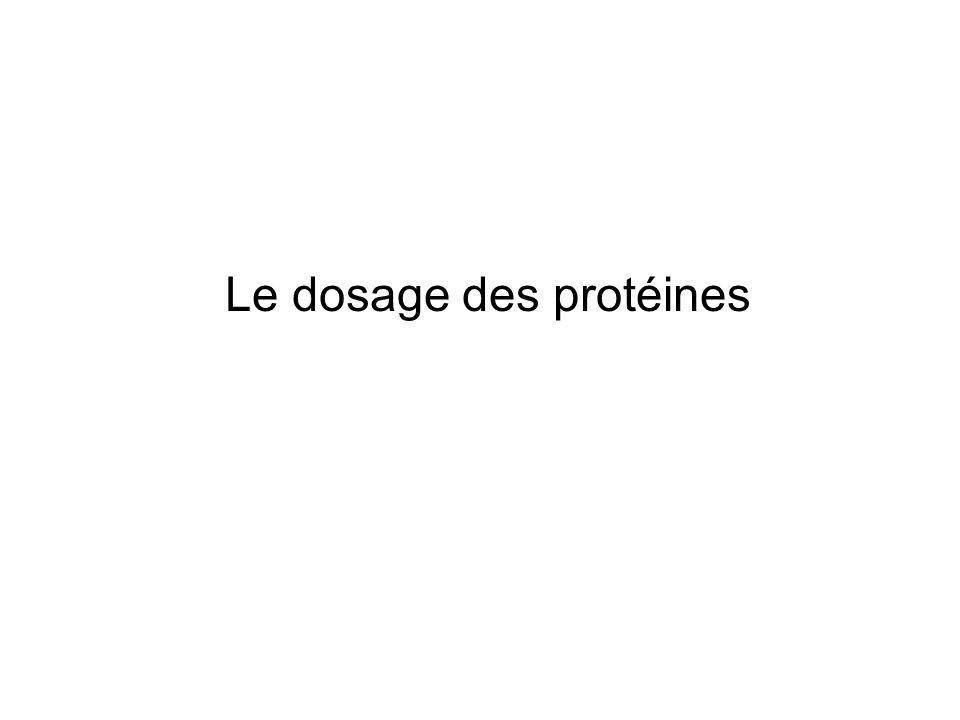 Le dosage des protéines