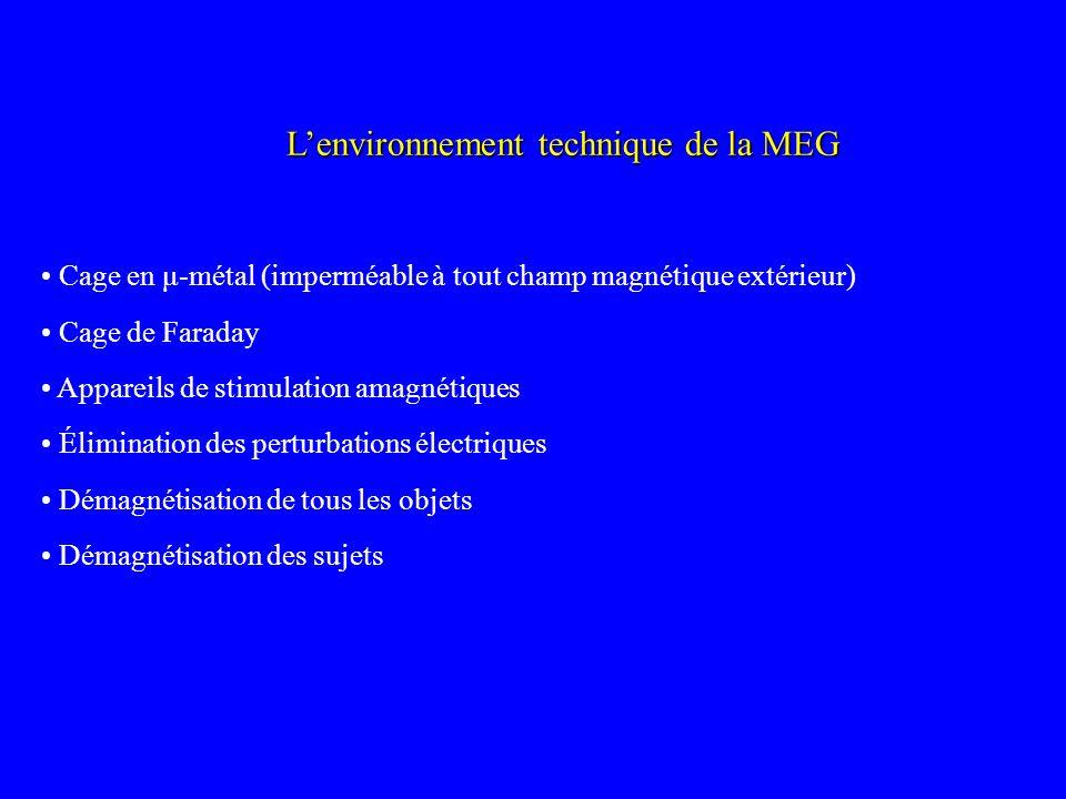 L'environnement technique de la MEG