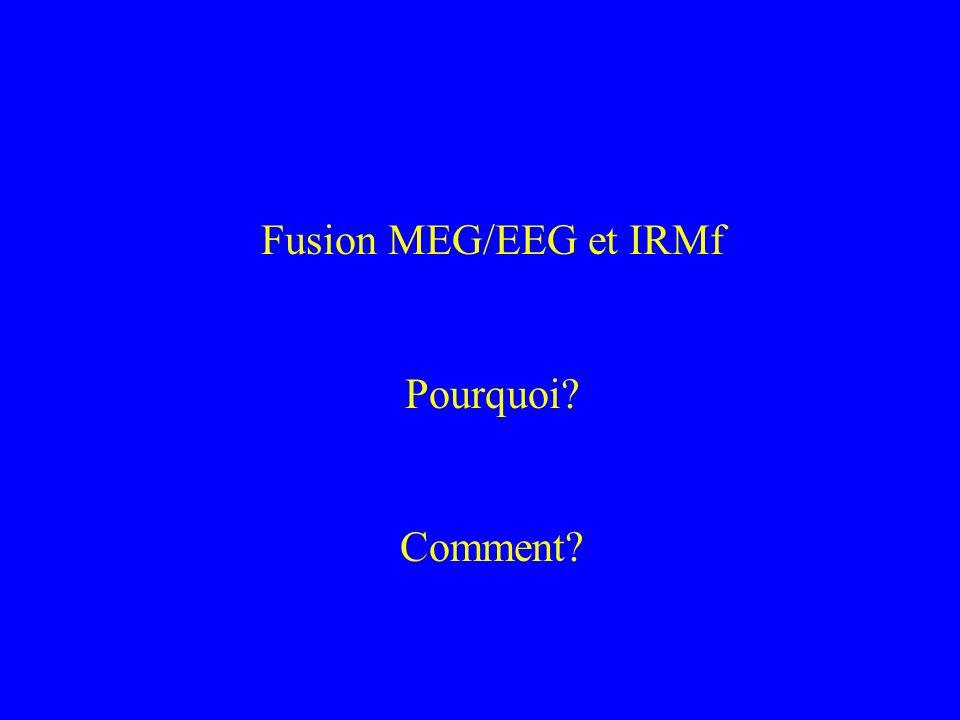 Fusion MEG/EEG et IRMf Pourquoi Comment