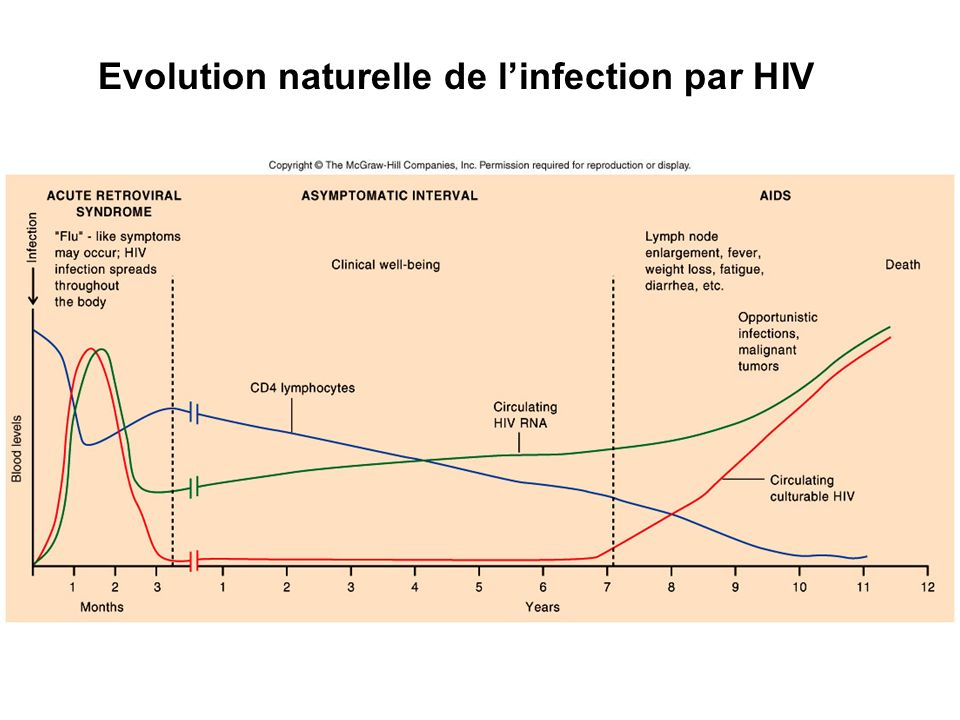 Evolution naturelle de l'infection par HIV