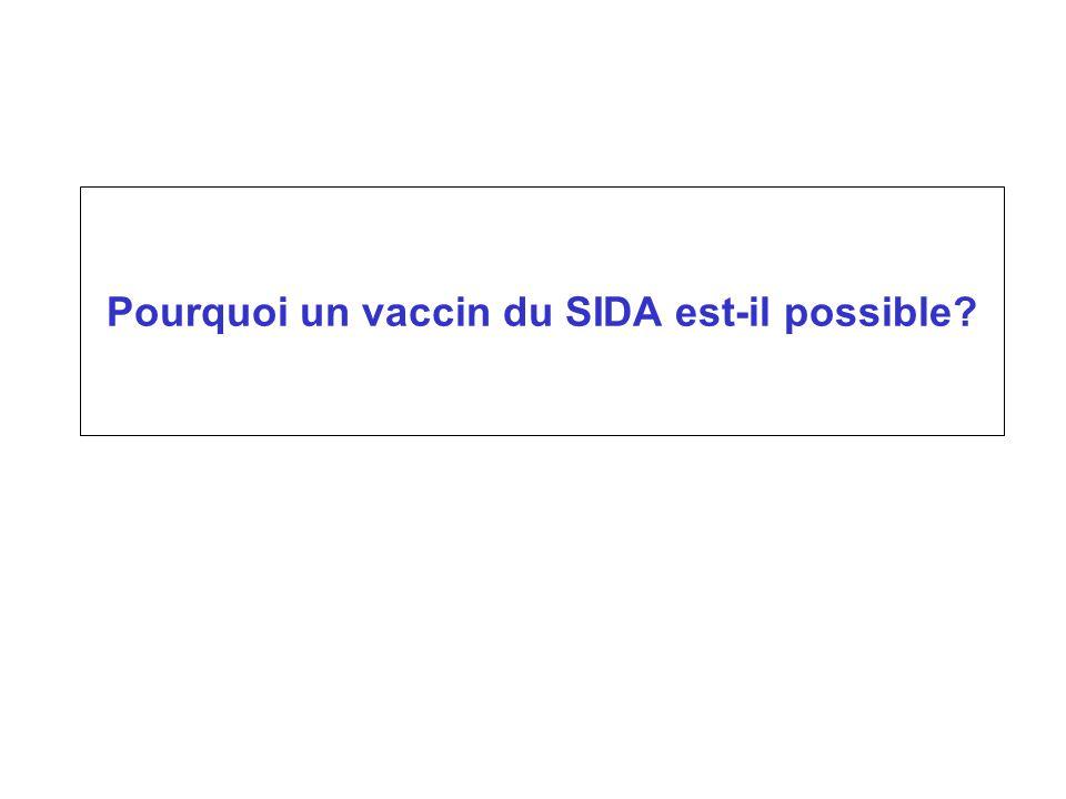 Pourquoi un vaccin du SIDA est-il possible