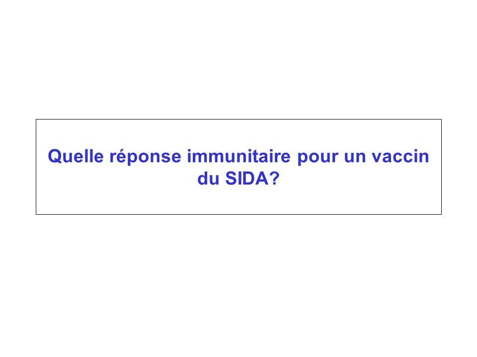Quelle réponse immunitaire pour un vaccin du SIDA