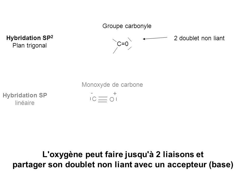 L oxygène peut faire jusqu à 2 liaisons et