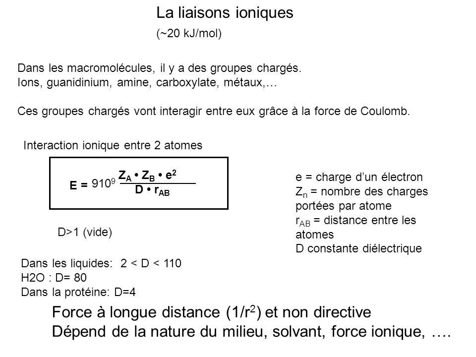 Force à longue distance (1/r2) et non directive