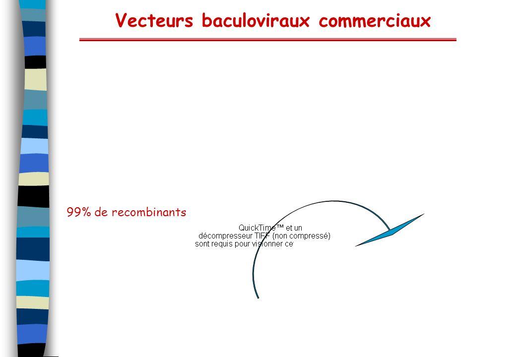 Vecteurs baculoviraux commerciaux