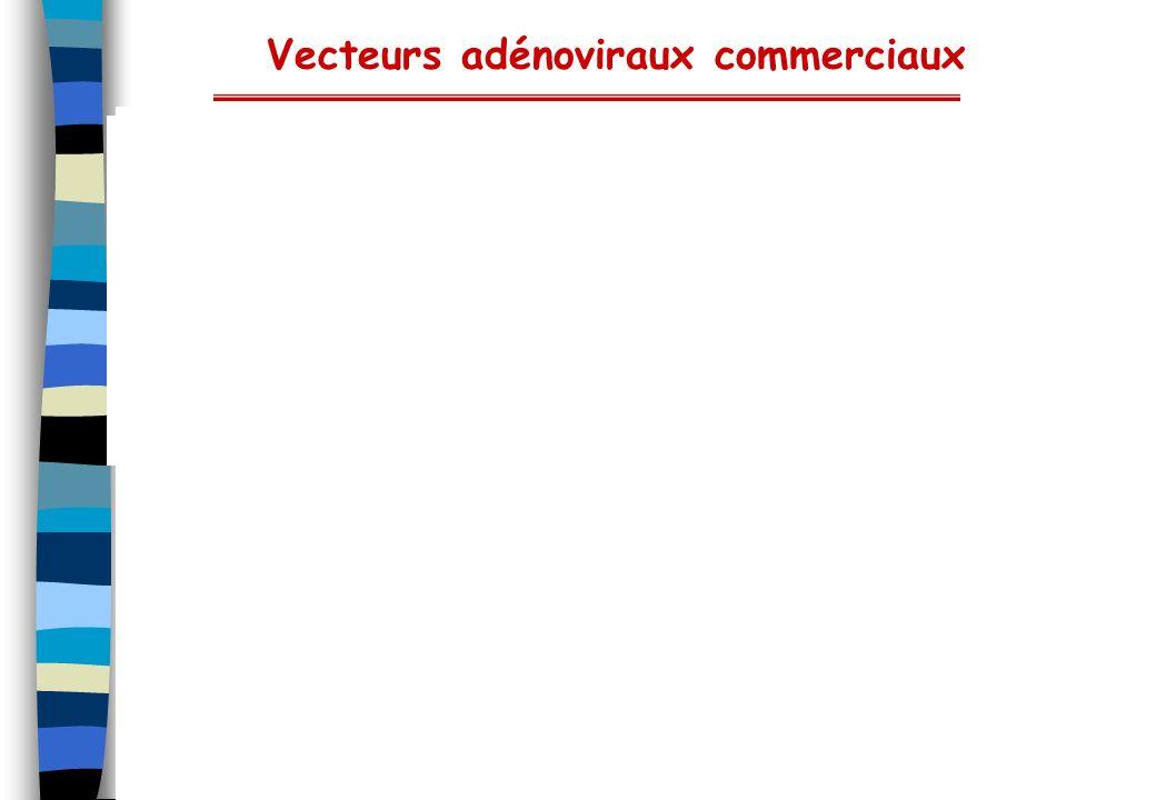 Vecteurs adénoviraux commerciaux