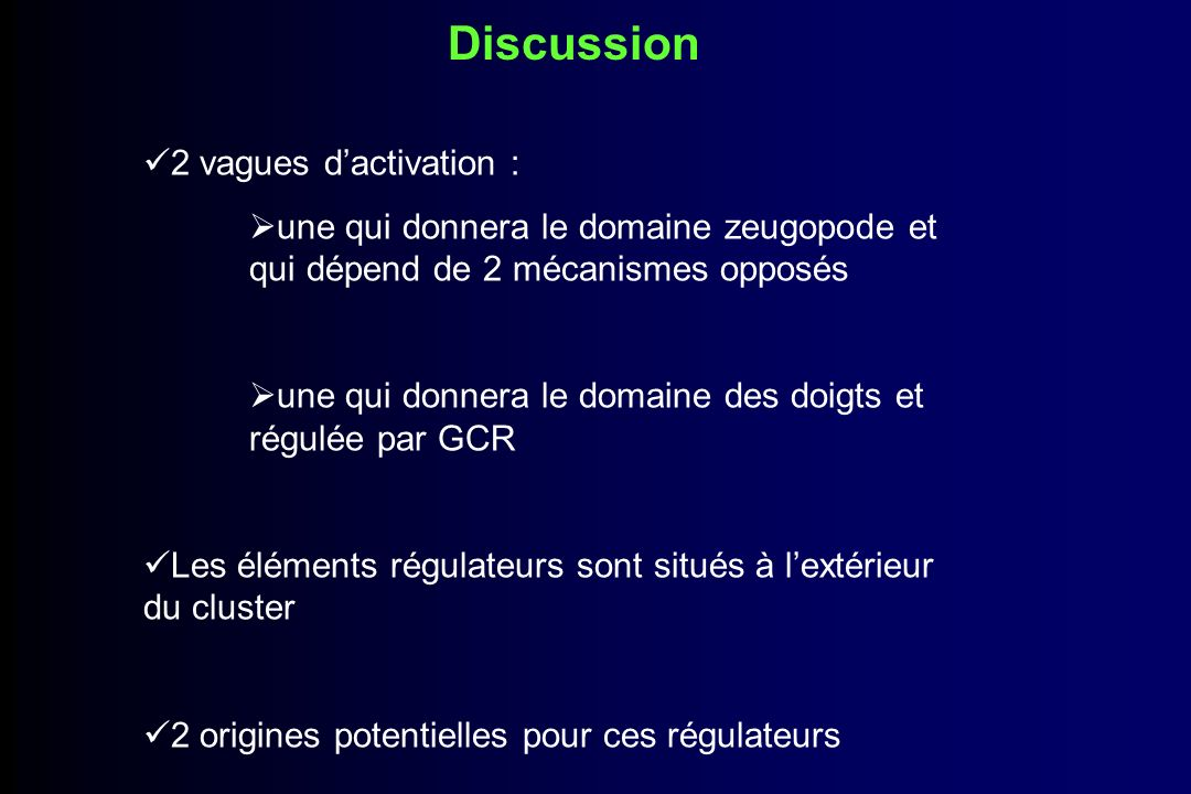 Discussion 2 vagues d'activation :