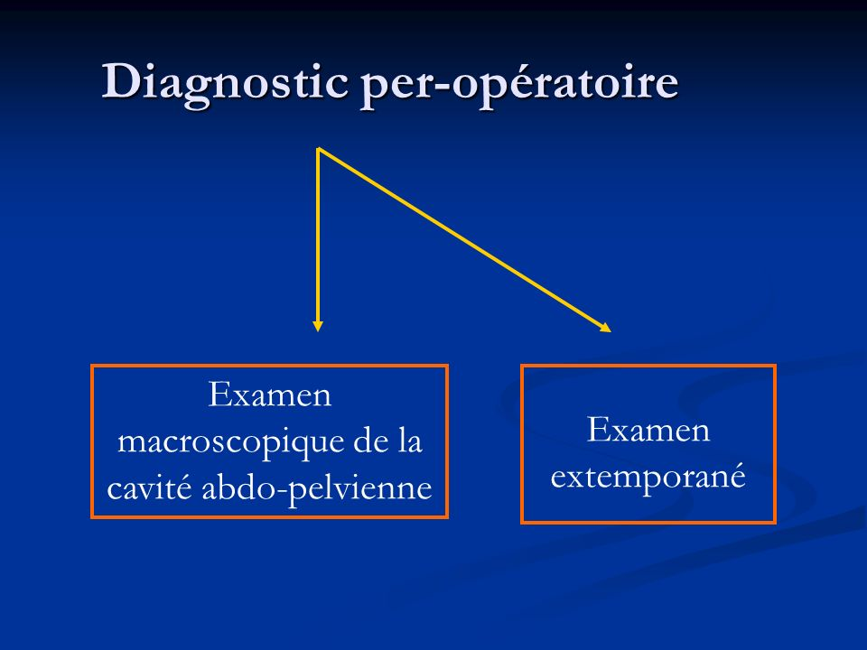 Diagnostic per-opératoire