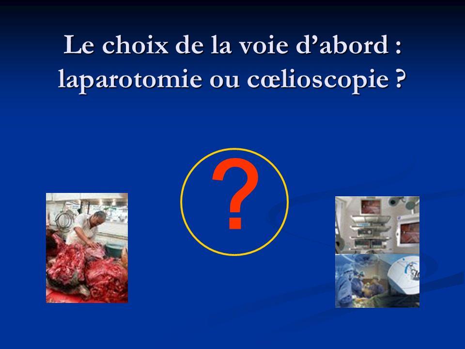 Le choix de la voie d'abord : laparotomie ou cœlioscopie