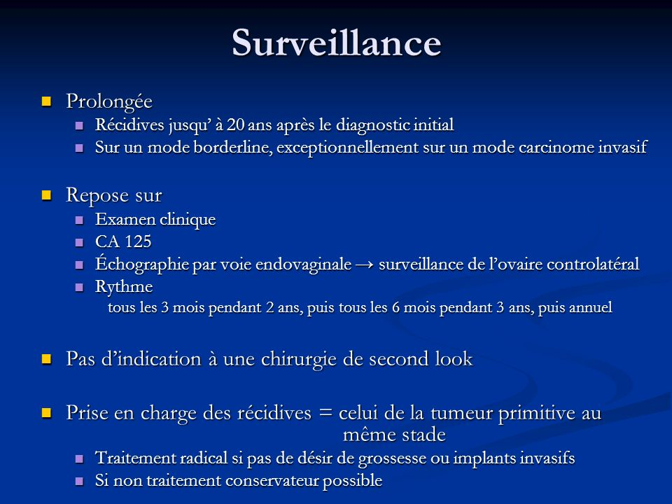 Surveillance Prolongée Repose sur