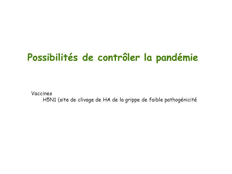 Possibilités de contrôler la pandémie