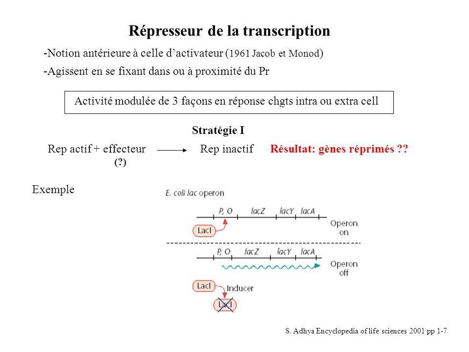 Répresseur de la transcription