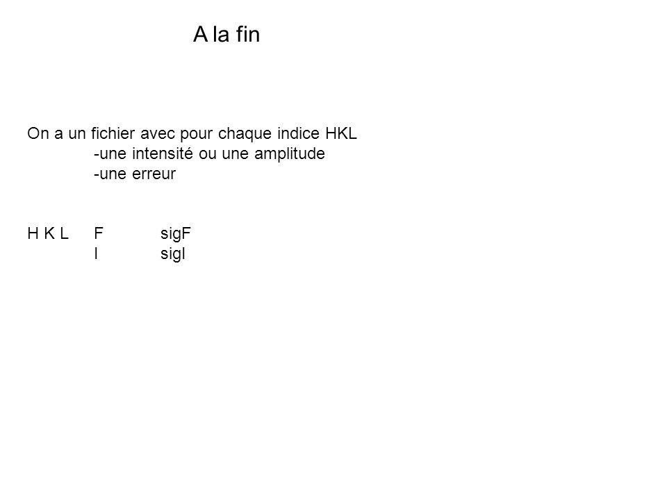 A la fin On a un fichier avec pour chaque indice HKL