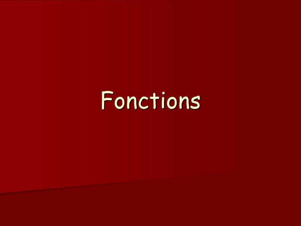 Fonctions