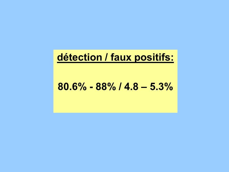 détection / faux positifs: