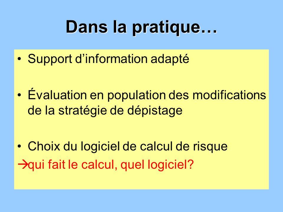 Dans la pratique… Support d'information adapté