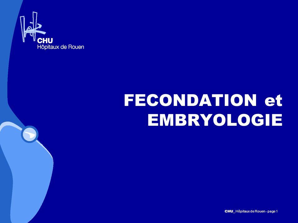 FECONDATION et EMBRYOLOGIE
