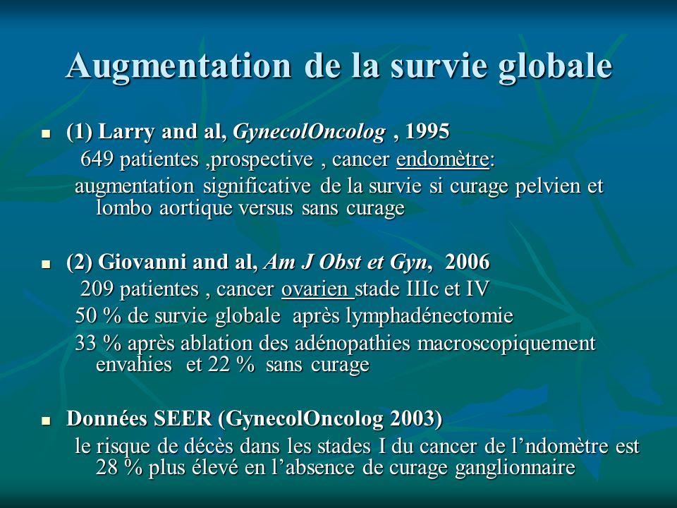 Augmentation de la survie globale