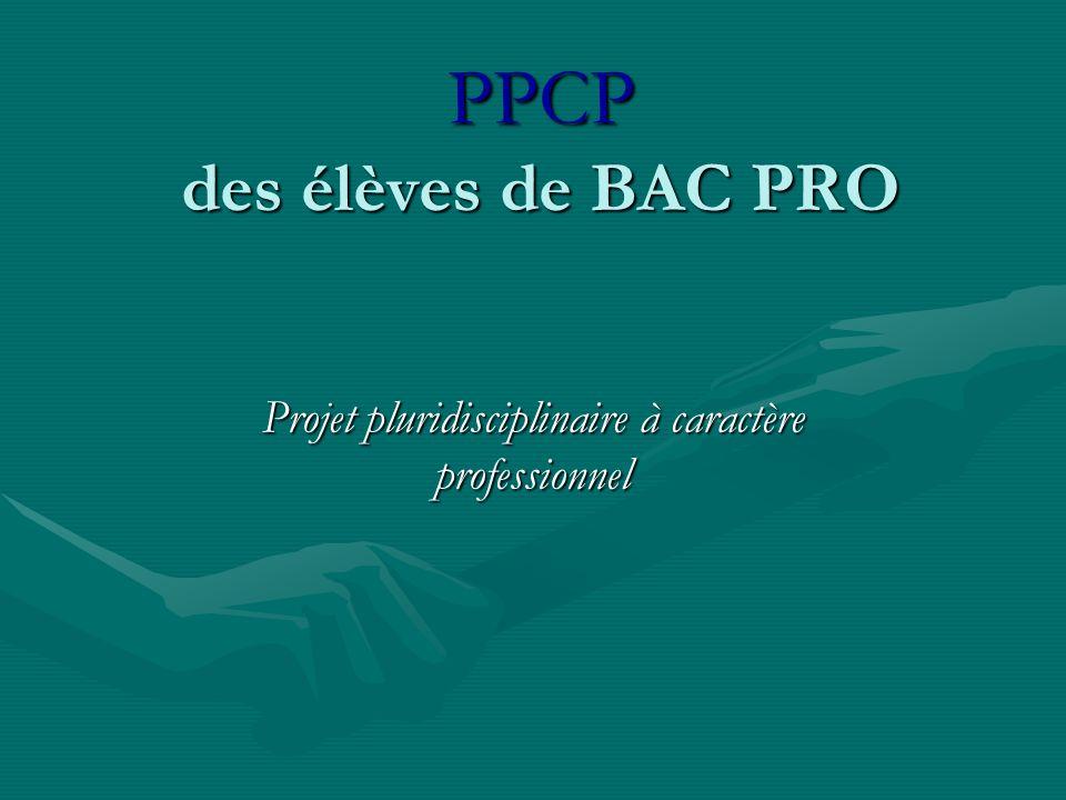 PPCP des élèves de BAC PRO