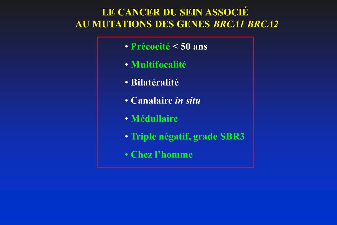 LE CANCER DU SEIN ASSOCIÉ AU MUTATIONS DES GENES BRCA1 BRCA2