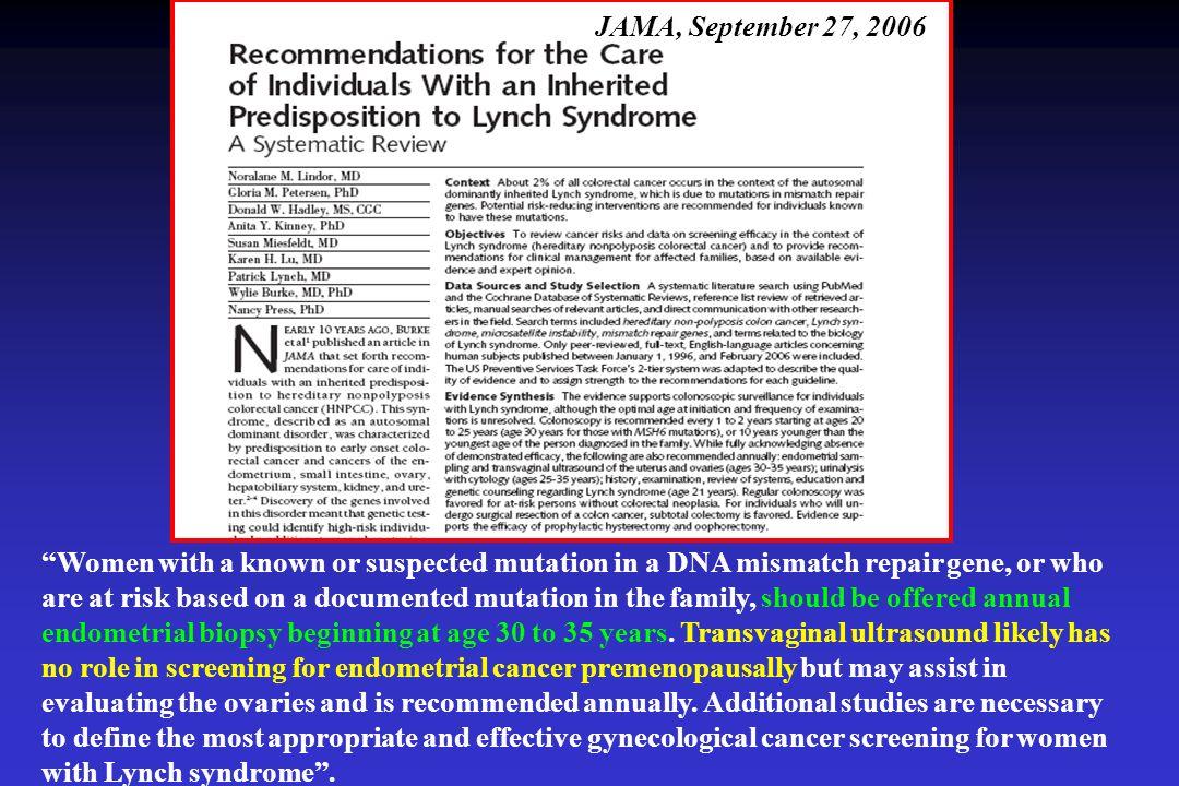 JAMA, September 27, 2006