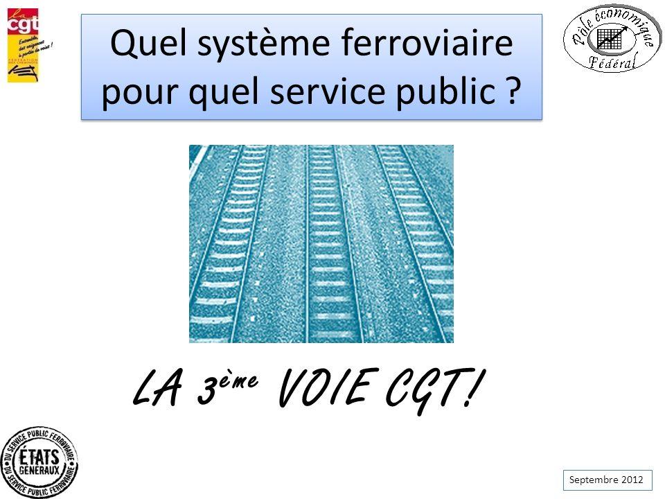 LA 3ème VOIE CGT! Quel système ferroviaire pour quel service public