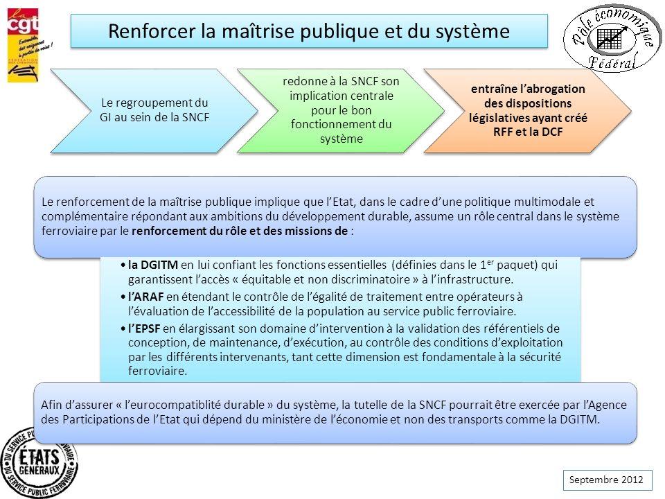 Renforcer la maîtrise publique et du système