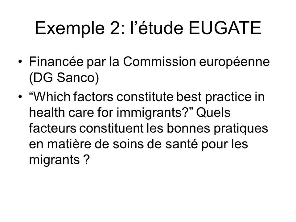 Exemple 2: l'étude EUGATE