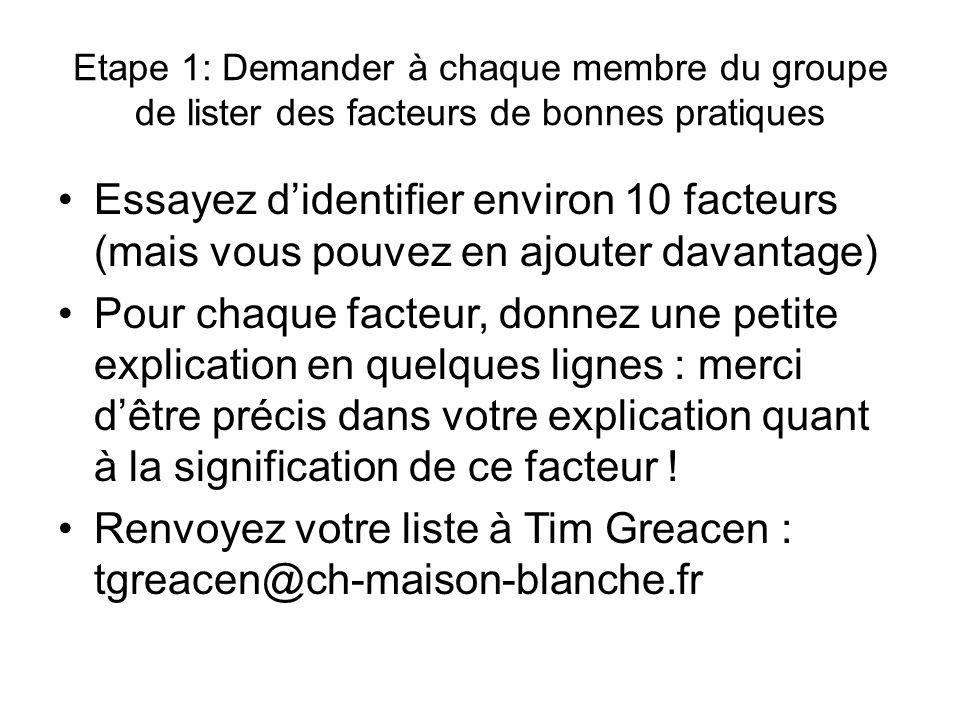 Renvoyez votre liste à Tim Greacen : tgreacen@ch-maison-blanche.fr