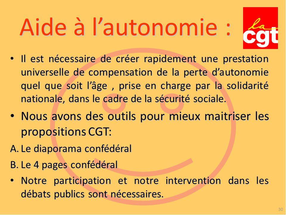 Aide à l'autonomie :