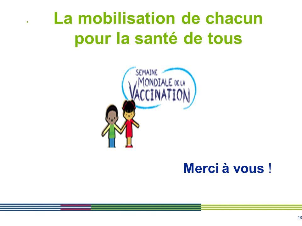La mobilisation de chacun pour la santé de tous