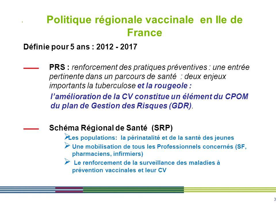 Politique régionale vaccinale en Ile de France