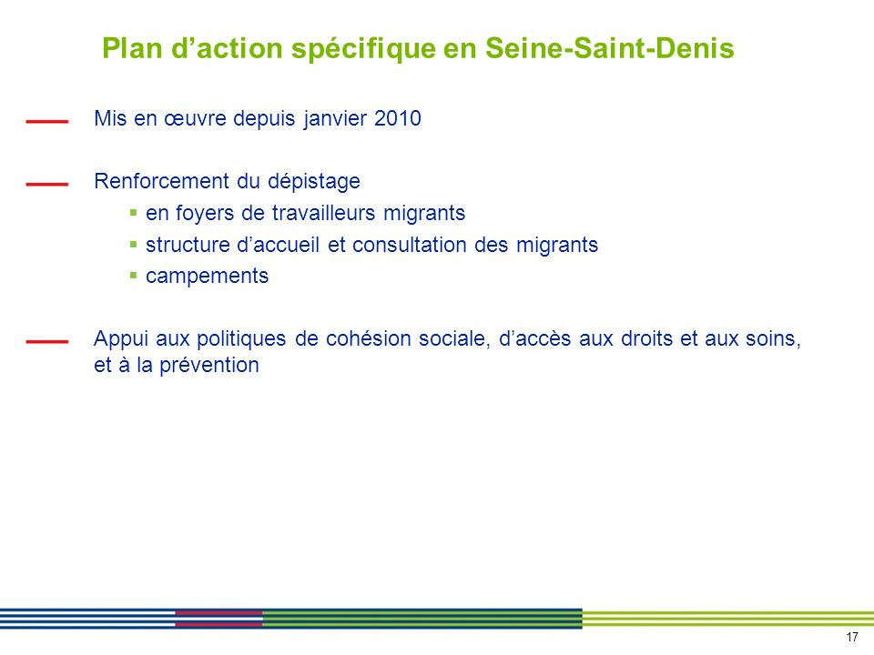 Plan d'action spécifique en Seine-Saint-Denis