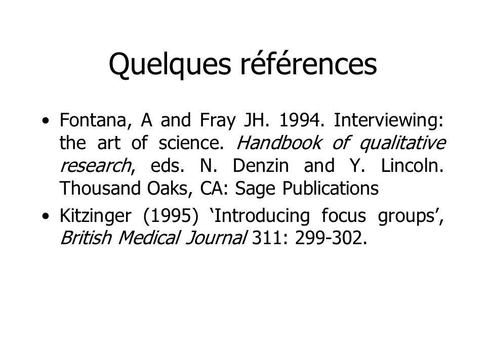 Quelques références