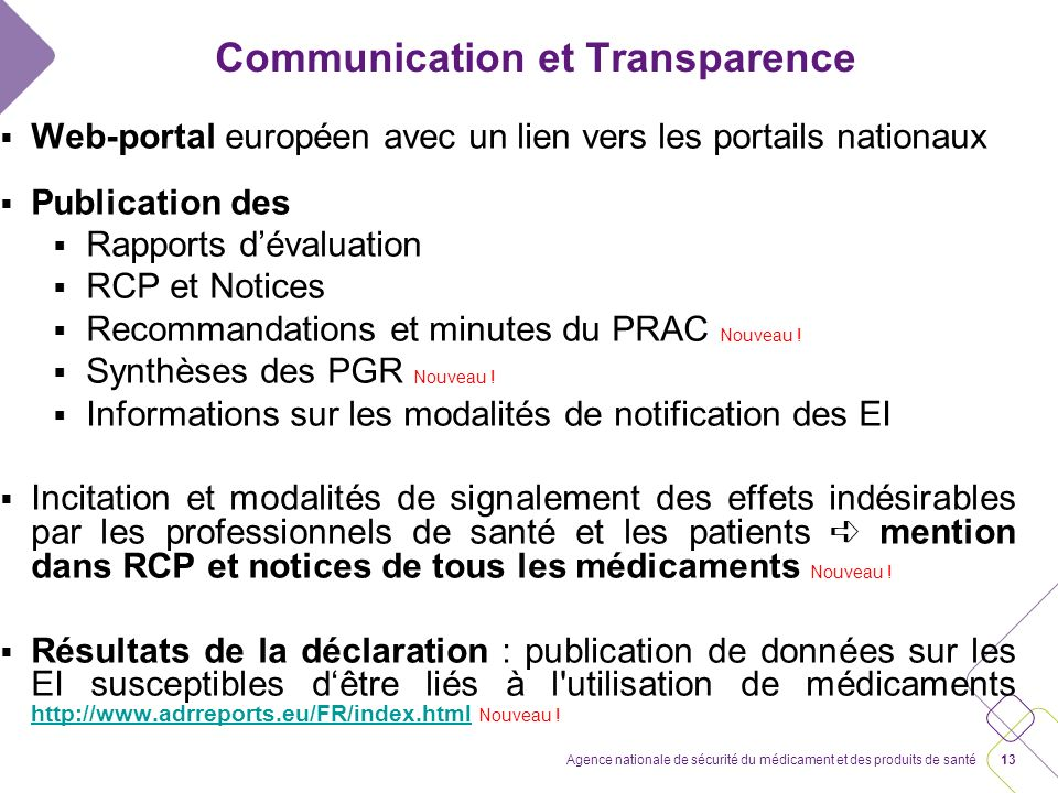 Communication et Transparence