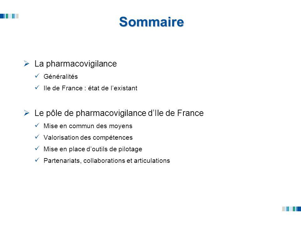 Sommaire La pharmacovigilance