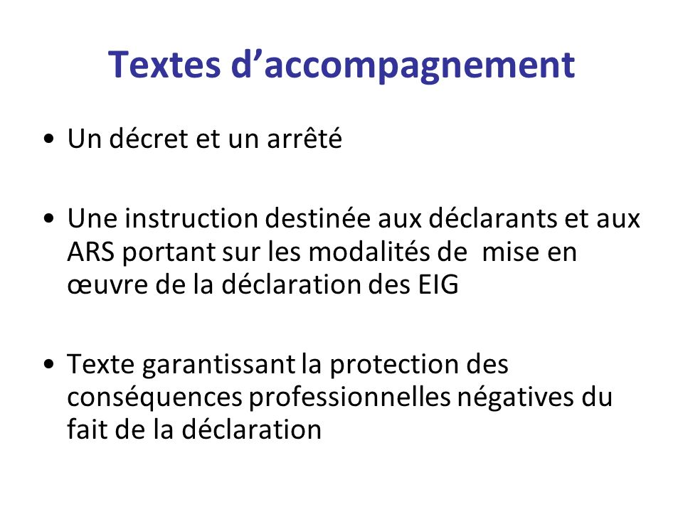 Textes d'accompagnement