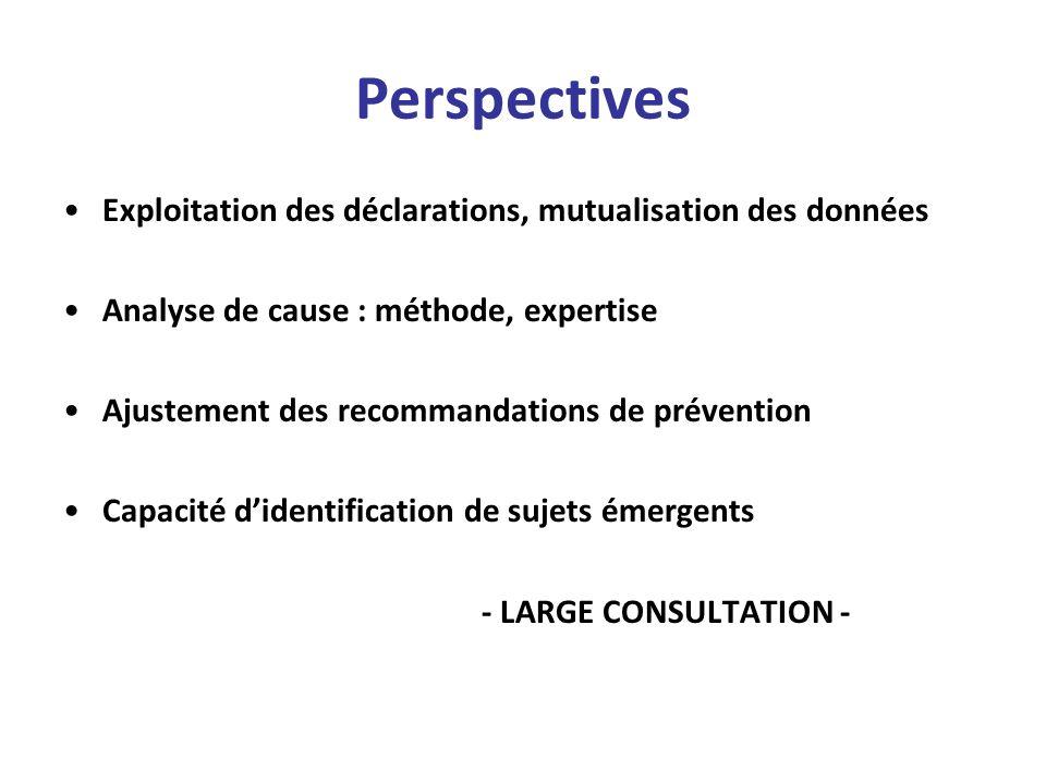 Perspectives Exploitation des déclarations, mutualisation des données
