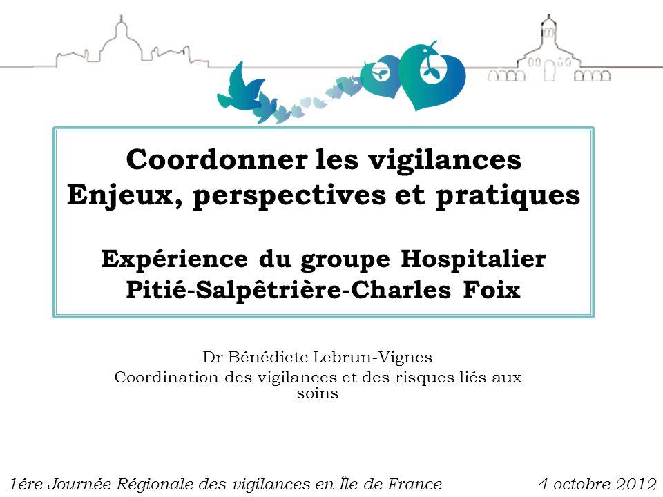 Coordonner les vigilances Enjeux, perspectives et pratiques Expérience du groupe Hospitalier Pitié-Salpêtrière-Charles Foix