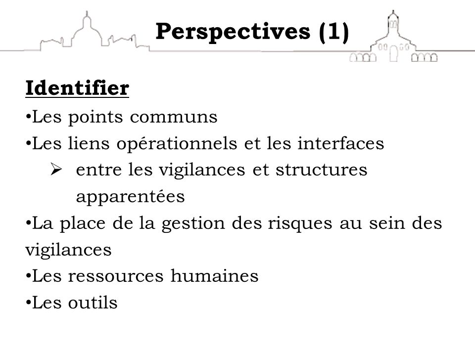 Perspectives (1) Identifier Les points communs
