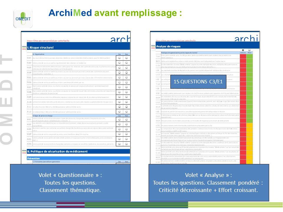 ArchiMed avant remplissage :