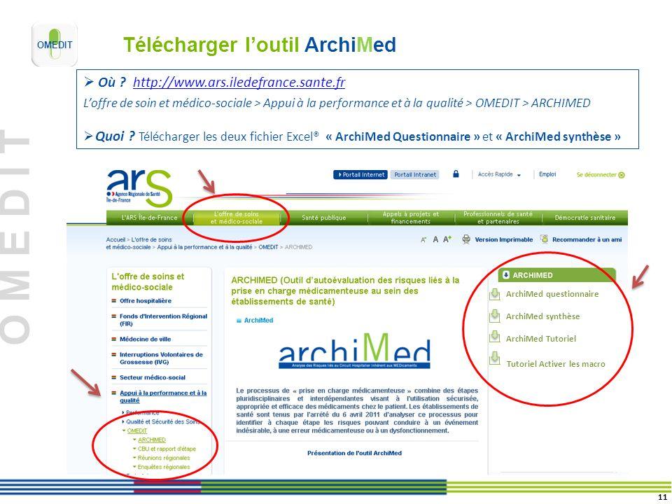 Télécharger l'outil ArchiMed