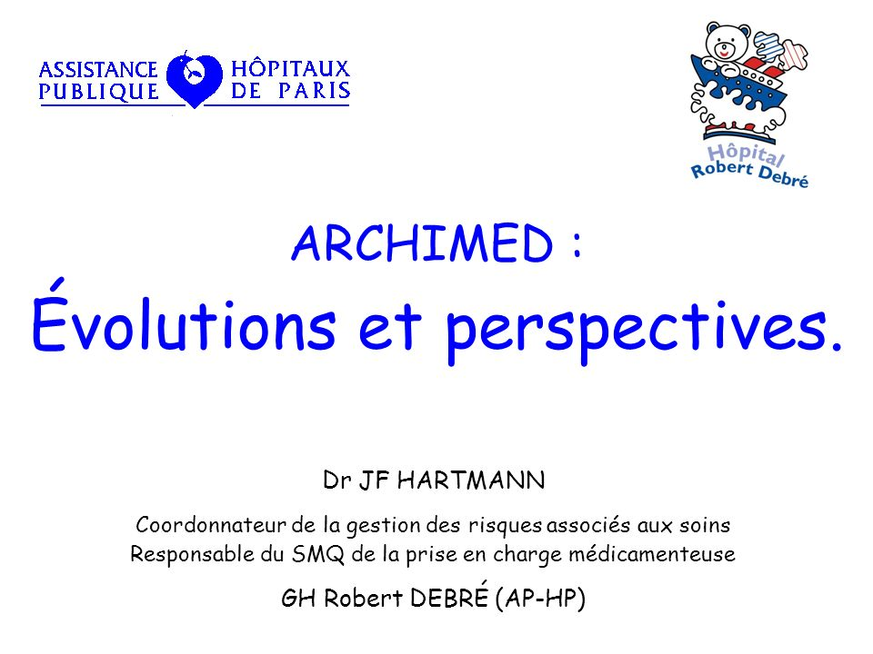 ARCHIMED : Évolutions et perspectives.