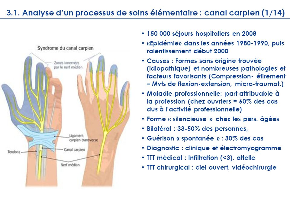 3.1. Analyse d'un processus de soins élémentaire : canal carpien (1/14)