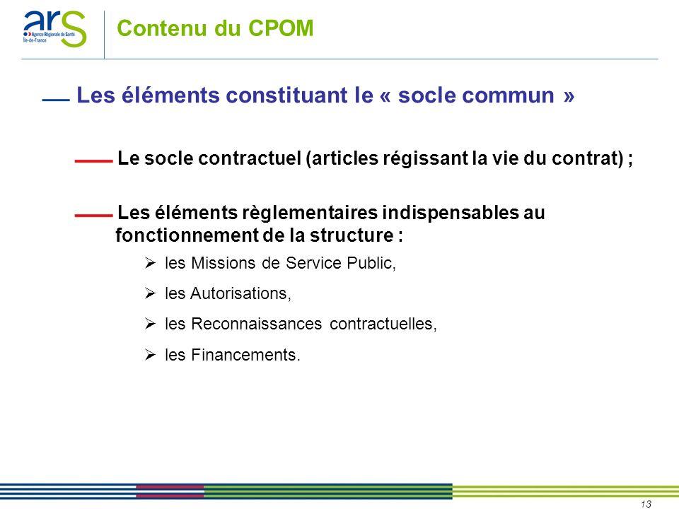 Les éléments constituant le « socle commun »